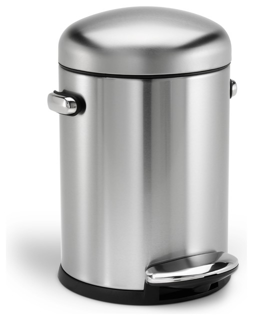 Stainless steel kitchen trash can Photo - 11