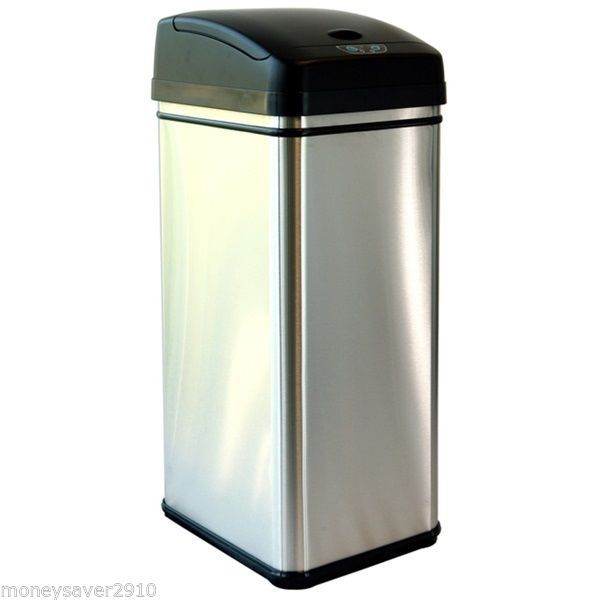 Stainless steel kitchen trash can Photo - 12
