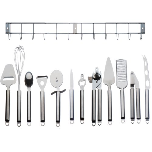 Stainless steel kitchen utensil holder Photo - 6