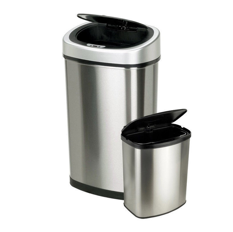 Stainless steel trash can kitchen Photo - 9