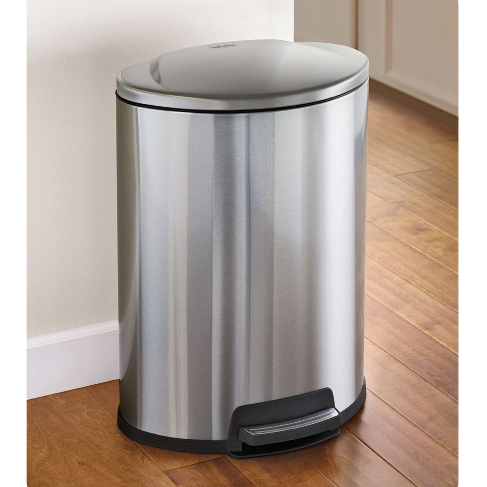 Stainless Steel Trash Can Kitchen Kitchen Ideas