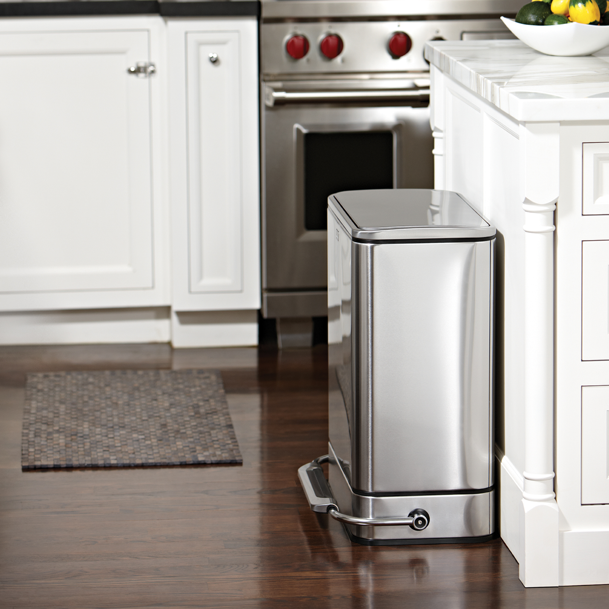 Stainless Steel Trash Can Kitchen Photo 6
