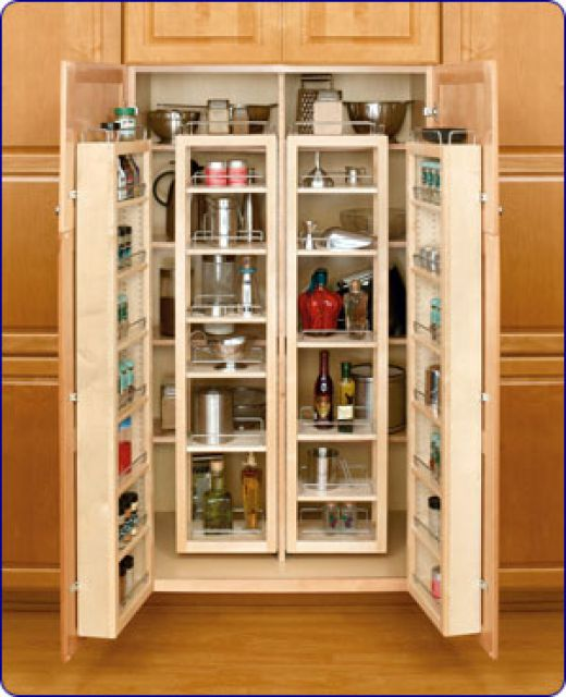 Stand alone kitchen pantry cabinet Photo - 8