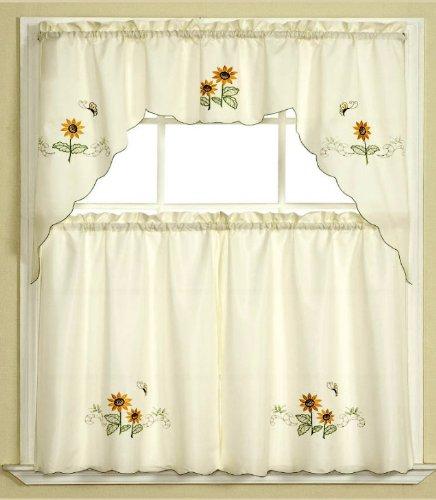 Charming Sunflower Kitchen Curtains Photo   11 .