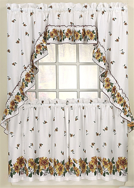 Sunflower Kitchen Curtains Home Decor