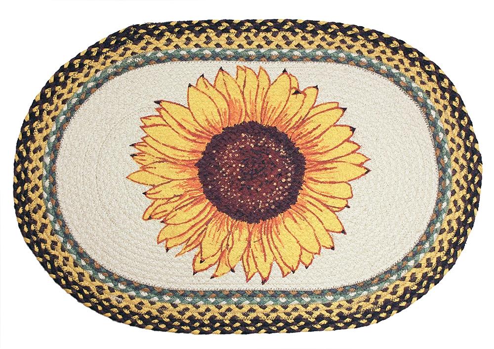 Sunflower kitchen rugs