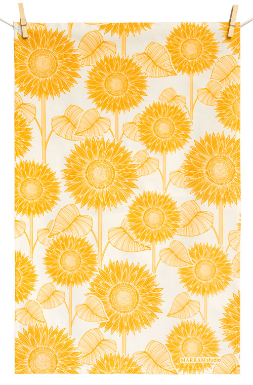 Sunflower Kitchen Towels Photo U2013 6