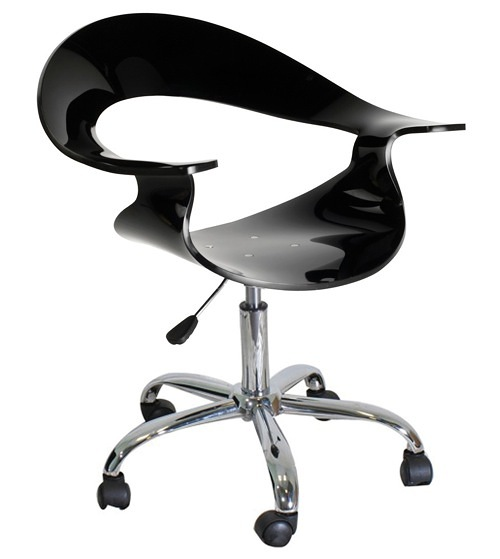 Swivel kitchen chairs with casters Photo - 9
