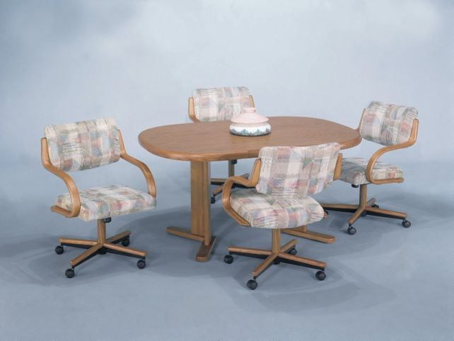 Swivel kitchen chairs with casters Photo - 2