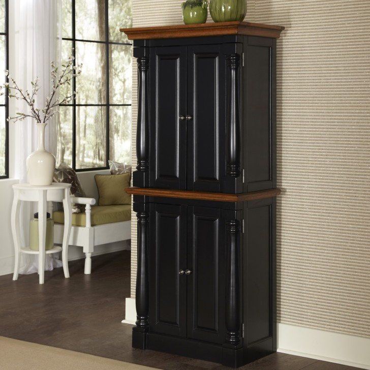 Tall kitchen pantry cabinet furniture Photo - 10