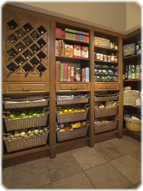 Tall kitchen pantry cabinet furniture Photo - 2