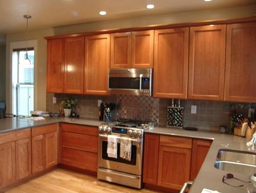 Tall kitchen pantry cabinet furniture Photo - 4