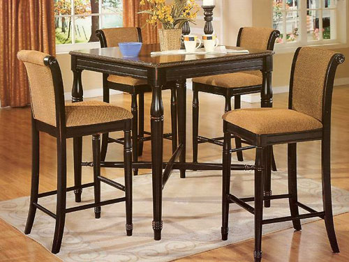 Tall kitchen table and chairs Photo - 4 | Kitchen ideas