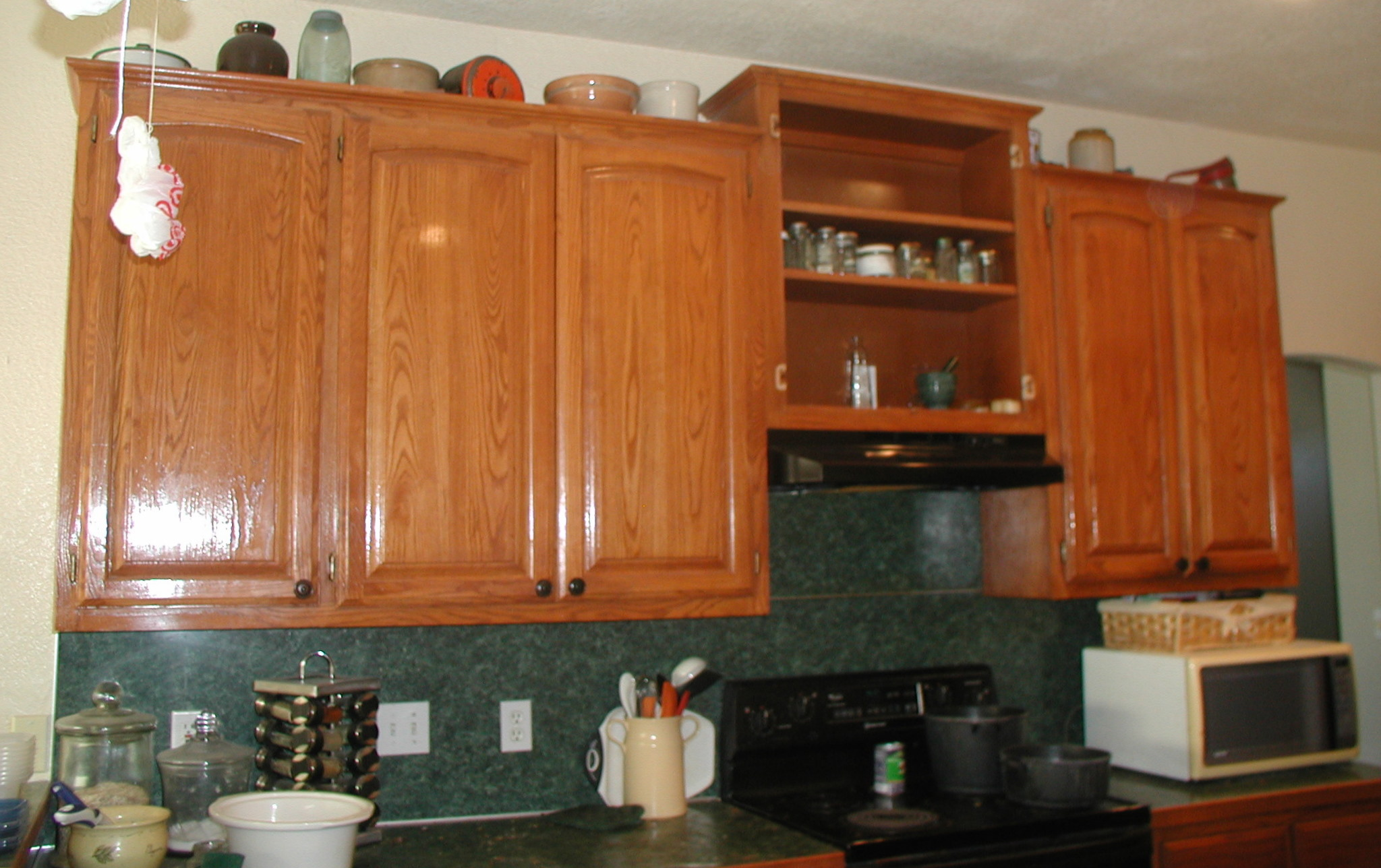 Tall kitchen wall cabinets Photo - 1