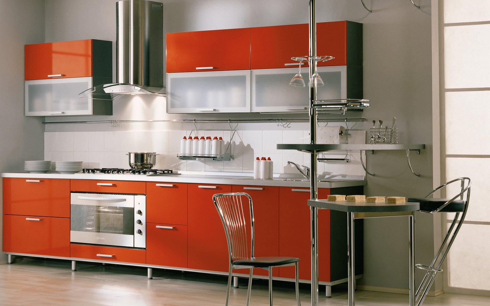 Tall kitchen wall cabinets Photo - 3