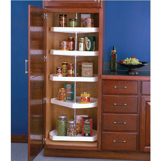 Tall white kitchen pantry cabinet Photo - 1