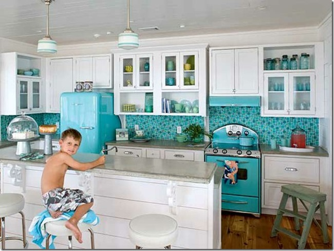 Teal kitchen appliances Kitchen ideas