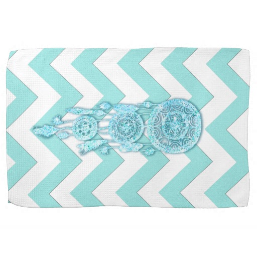 Teal kitchen towels Photo - 12