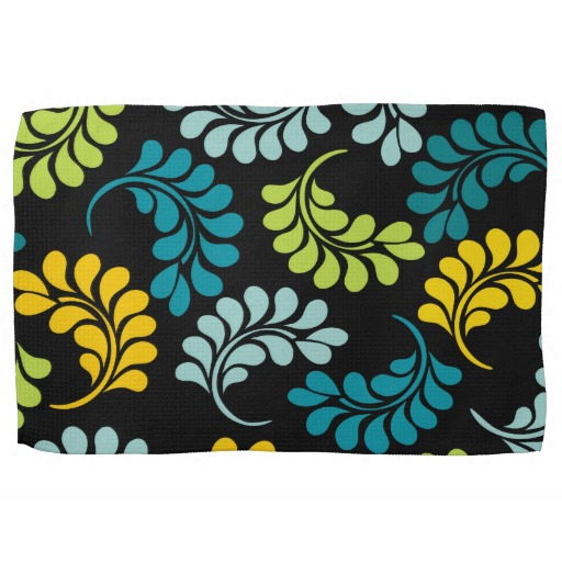 Teal kitchen towels Photo - 7