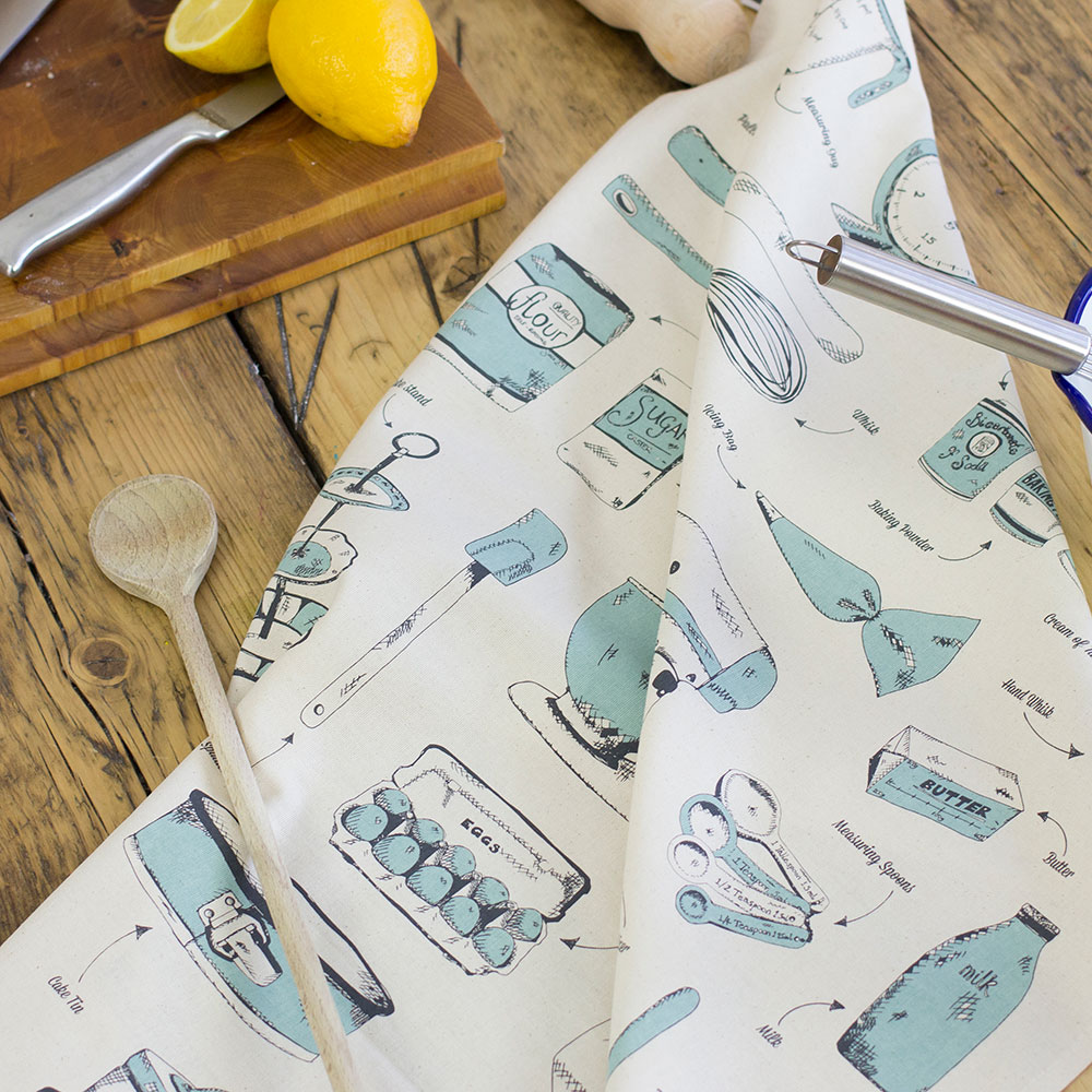 Teal kitchen towels Photo - 8