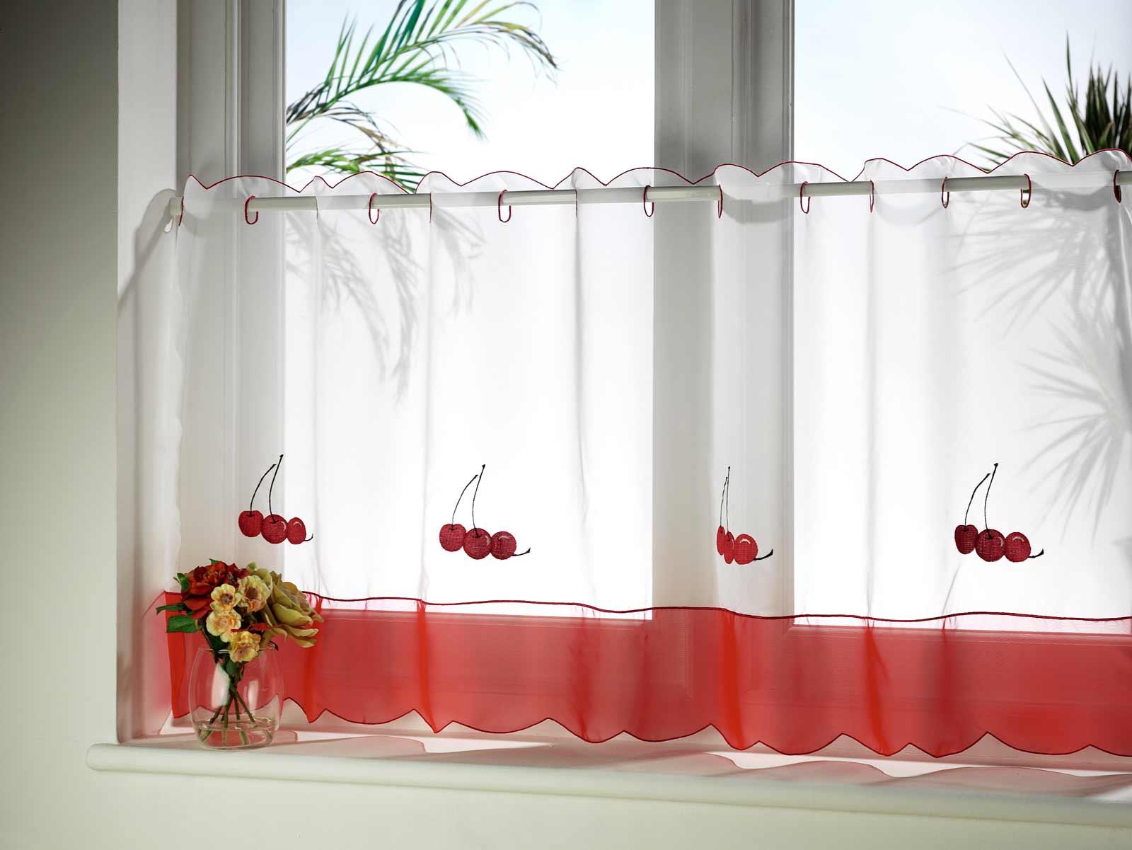 Turquoise kitchen curtains Photo - 1