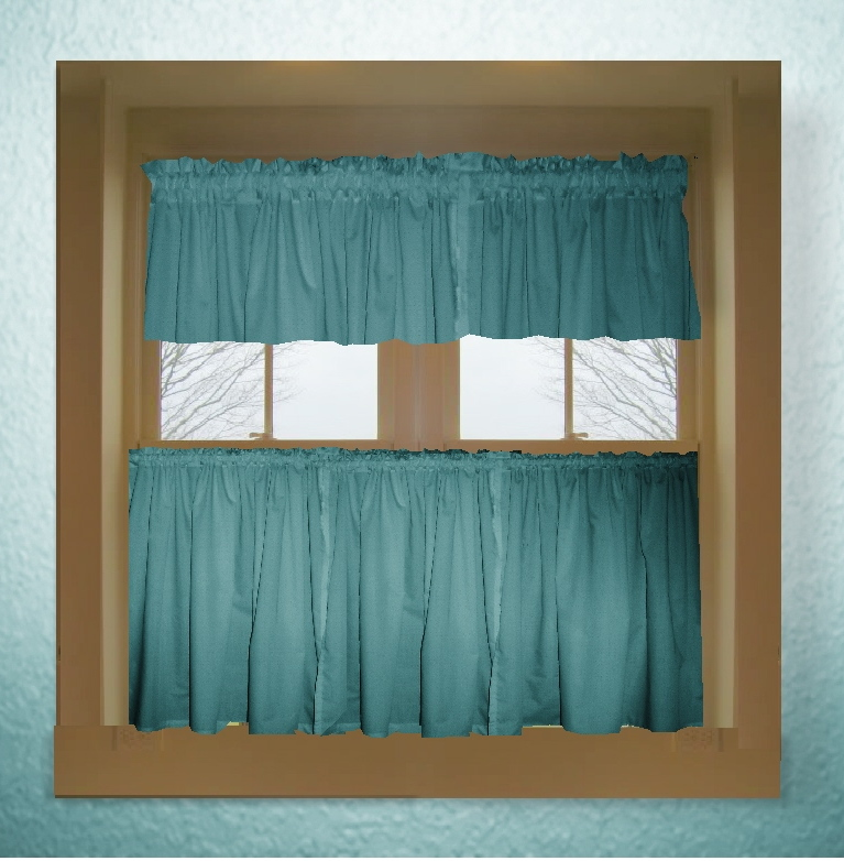 Turquoise Kitchen Curtains Photo - 2