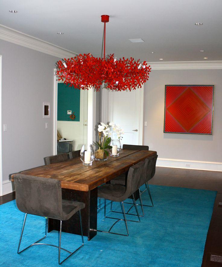 Turquoise kitchen rug Photo - 4