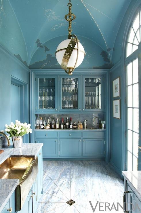 Turquoise kitchen rug Photo - 8