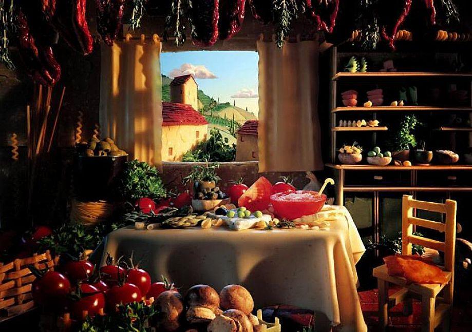 Tuscan kitchen curtains Photo - 7