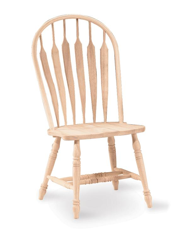 Unfinished wood kitchen chairs Photo - 5