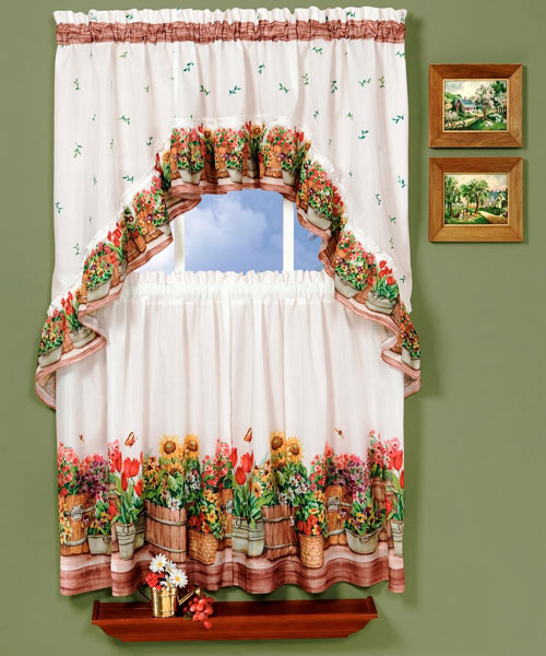 Valance curtains for kitchen Photo - 3