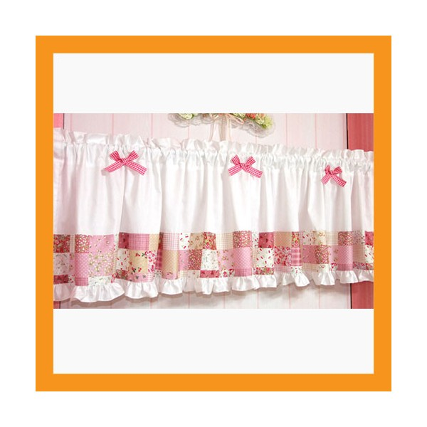 White Valance Curtains For Kitchen