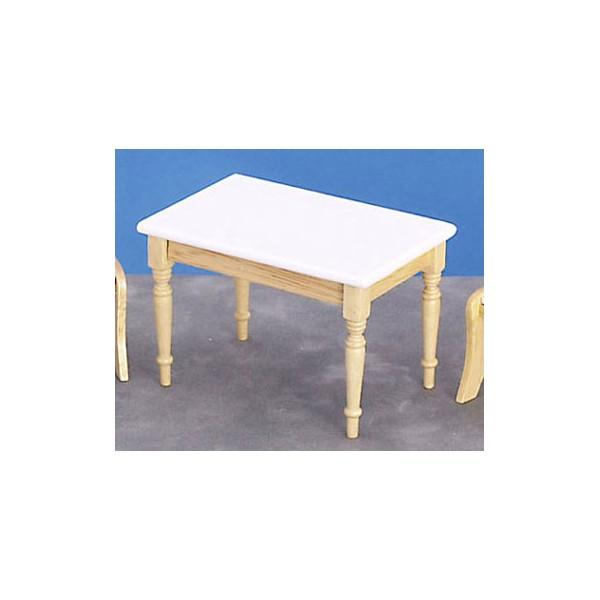 White and oak kitchen table Kitchen ideas