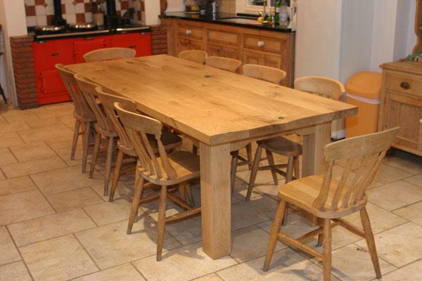 white and oak kitchen table | kitchen ideas