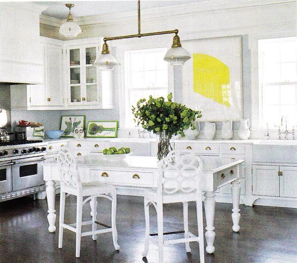 White Country Kitchen Table Photo 4