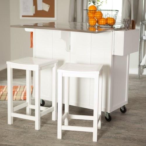 White kitchen bar stools Photo - 10