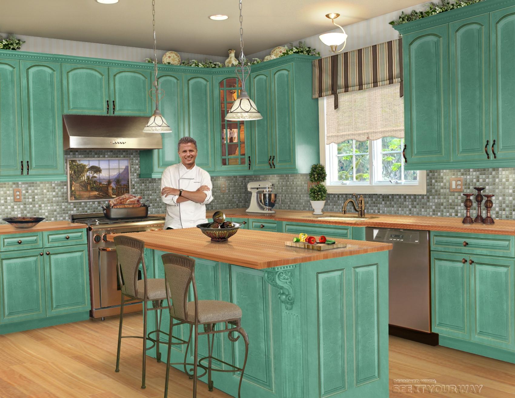 White kitchen bar stools Photo - 8