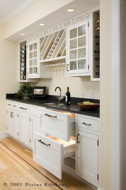 White kitchen buffet cabinet Photo - 7