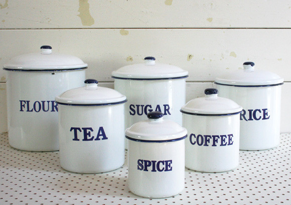 10 Photos To White Kitchen Canisters