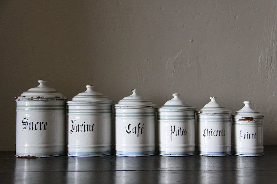 White kitchen canisters kitchen ideas for Bathroom canisters ideas