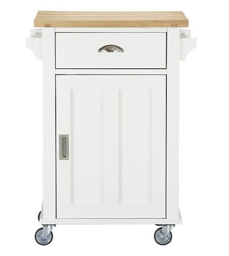 White kitchen cart photo 12 kitchen ideas for Kitchen trolley designs for small kitchens