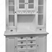 White kitchen hutch cabinet Photo - 1