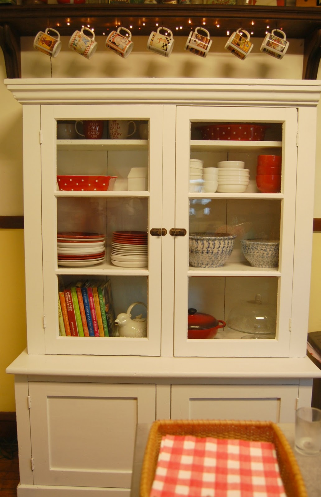 white kitchen hutch cabinet | kitchen ideas