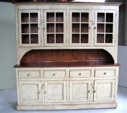 White kitchen hutch cabinet Photo - 1