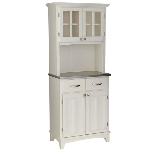 White kitchen hutch cabinet Photo - 2