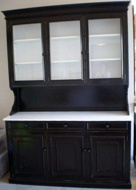 White kitchen hutch cabinet Photo - 4