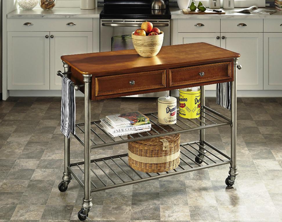 White Kitchen Island Cart Photo 9 Kitchen Ideas
