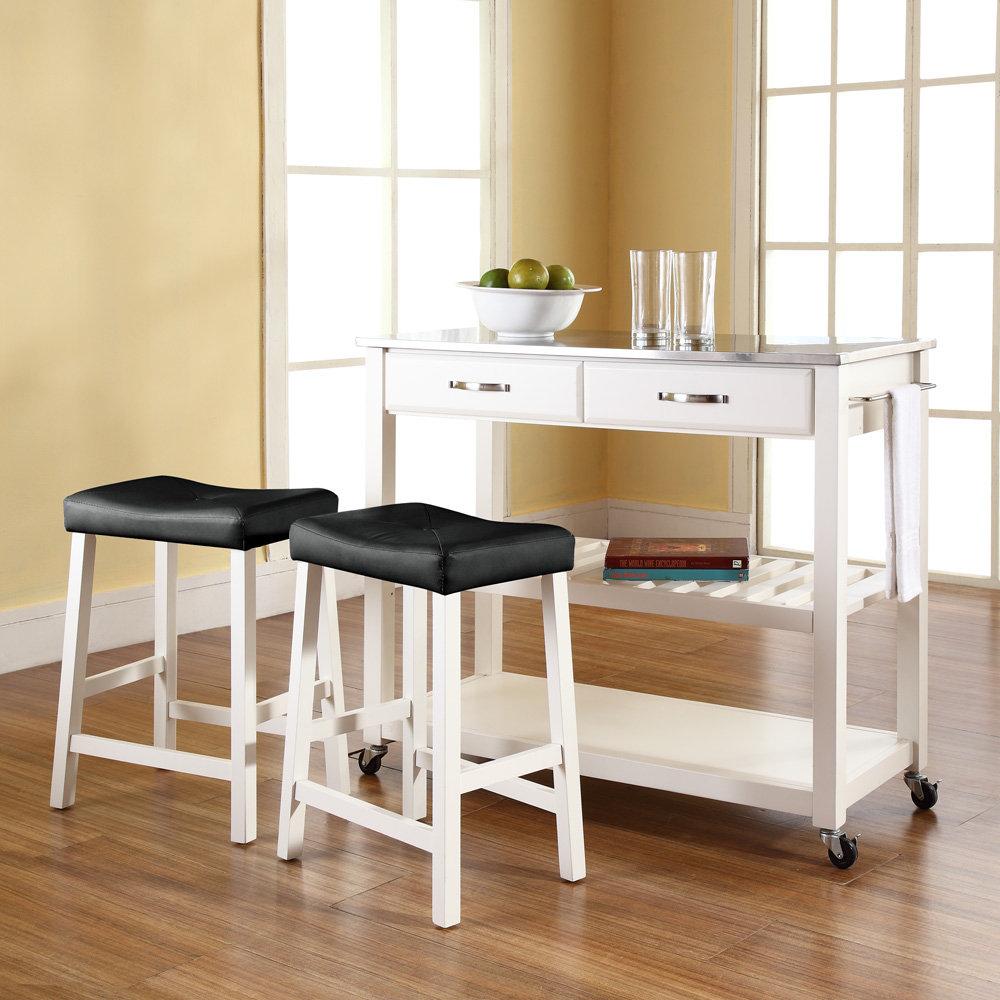 White portable kitchen island - 10 Photos To White Kitchen Island Cart