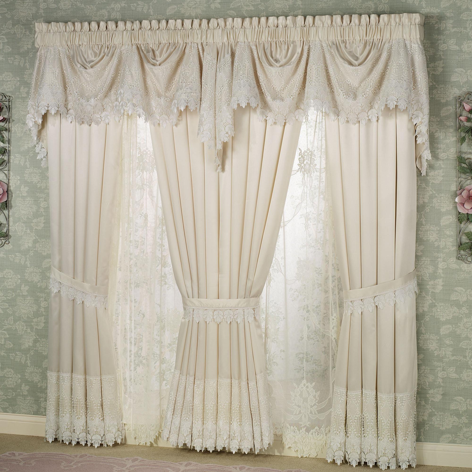 White lace kitchen curtains Photo - 1
