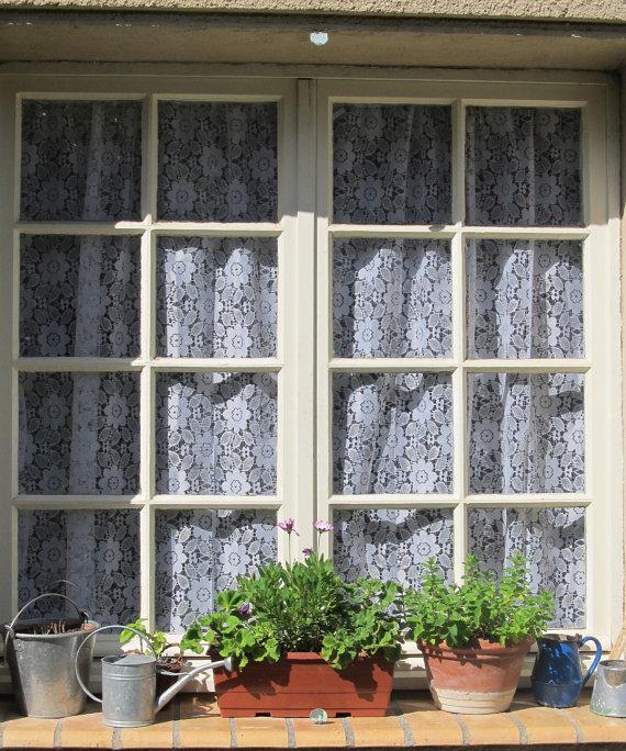 White lace kitchen curtains Photo - 9
